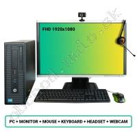 SET HP ProDesk 600 G1 SFF; Core i3 4160 3.6GHz/8GB RAM/128GB SSD+500GB HDD/Intel HD/W10PRO